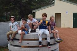 Boys on tanks photo May 2017