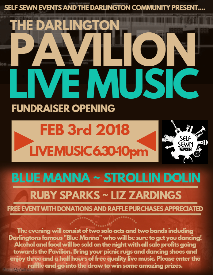 Darlington Pavilion Music Night-Poster
