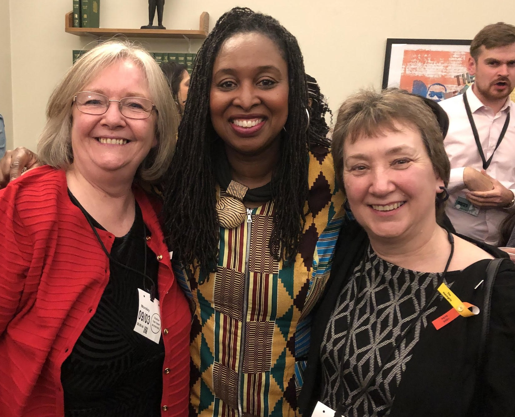 Barbara Plant (right) with Kathy Abubakir and Dawn Butler