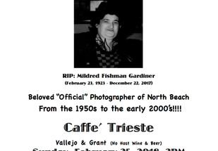 Celebrate Millie Gardiner — bring your own Polaroids!