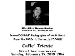 Celebrate Millie Gardiner — bring your own Polaroids!