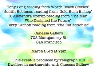 Cancelled: An evening of readings by our local authors!