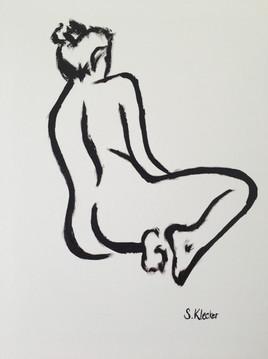 Seated Nude Contour
