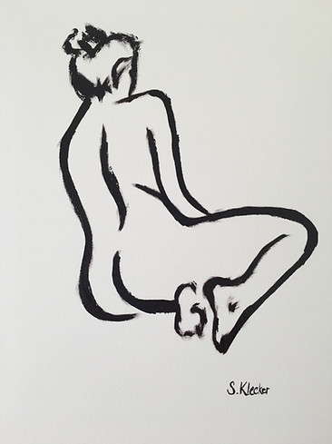 Seated Nude Contour