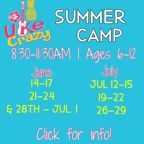 2021 Uke Crazy Summer Camp at Weatherford Music Academy