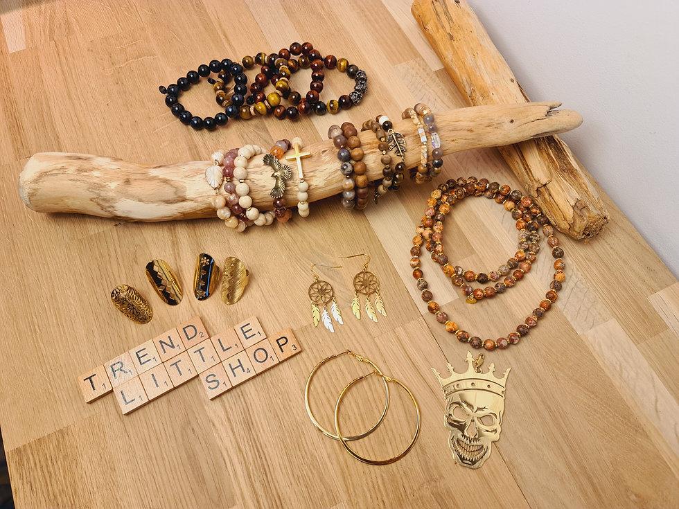 collection de bijoux hommes et femmes pierres naturelles
