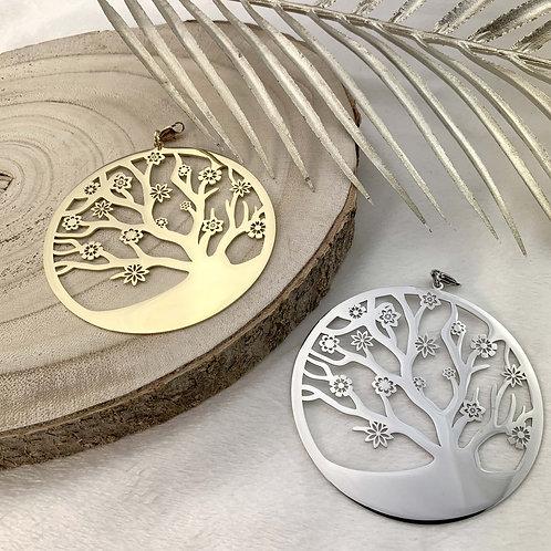 FLOWERED TREE OF LIFE pendant