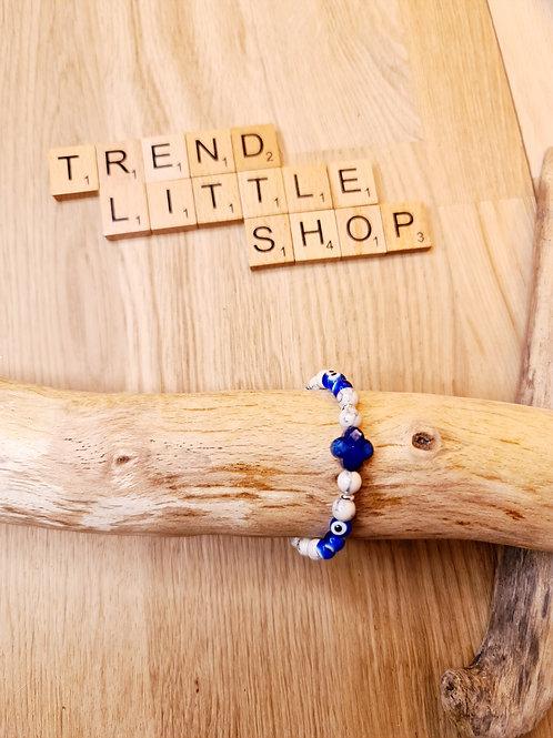 Bracelet ANTIKEYE bleu et argent