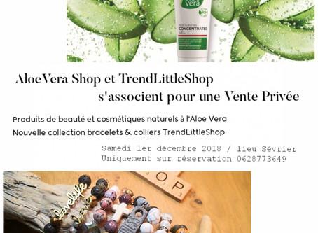 Vente privée Trendlittleshop et AloeVera Shop // Sevrier // Sam. 1er déc.