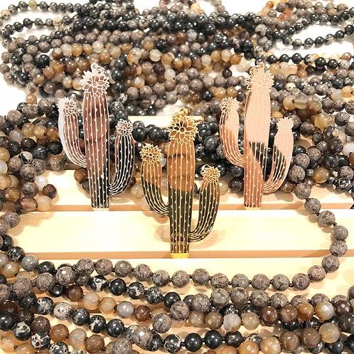 Cactus pendant Yellow gold