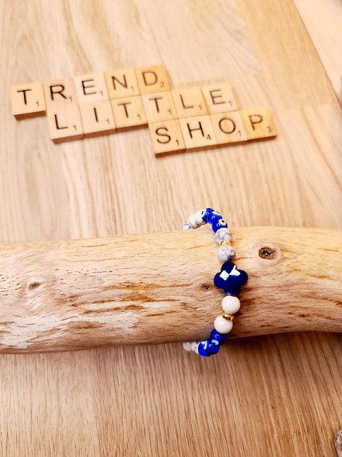 Bracelet ANTIKEYE bleu et or