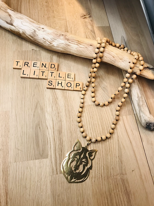 GAZZ wood long necklace