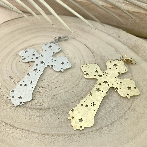 FLOWER CROSS pendant