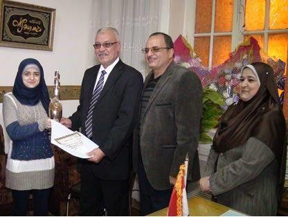 فازت إحدى موظفات المديرية بجائزة دولية فى الفن التشكيلى فى المسابقة المقامة بالبحرين.
