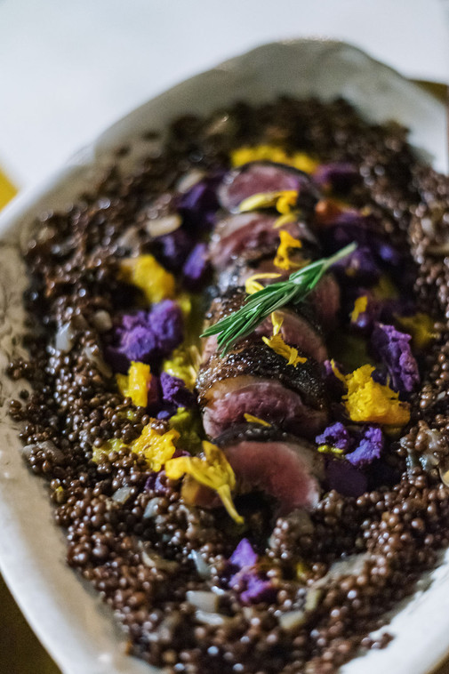 Duck Breast Roulade w/ Fall Lentils