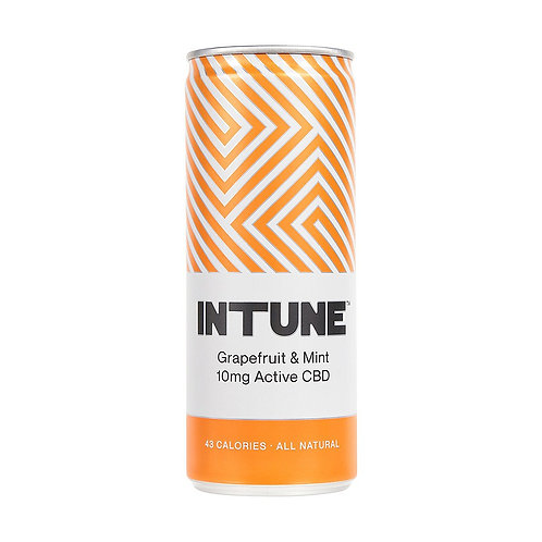 'Grapefruit & Mint' - INTUNE - Botanical CBD Soft Drink