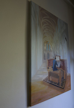 Organist on the wall
