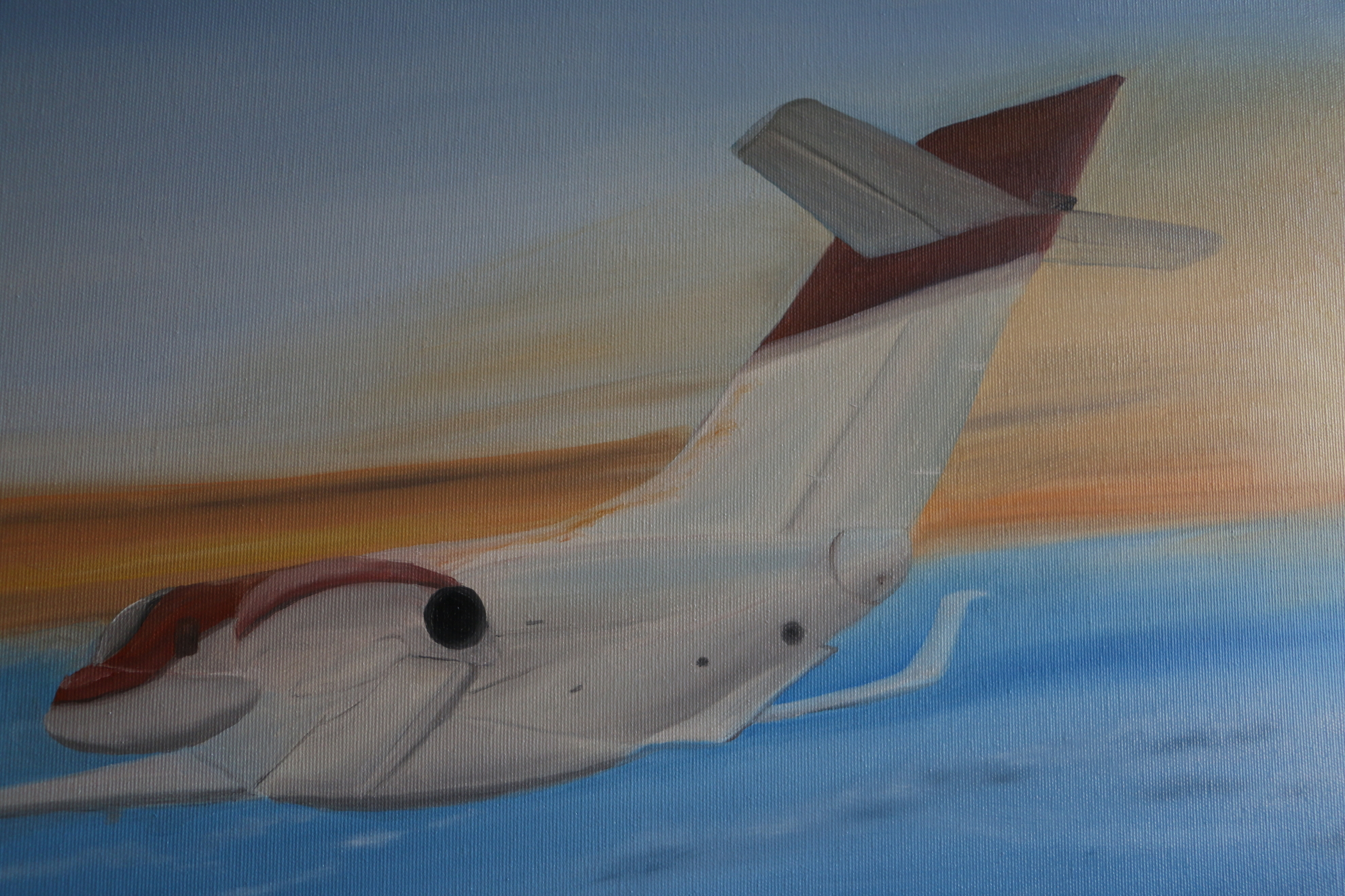 Detail view: airplane