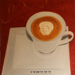 Melody coffee, 70x70cm