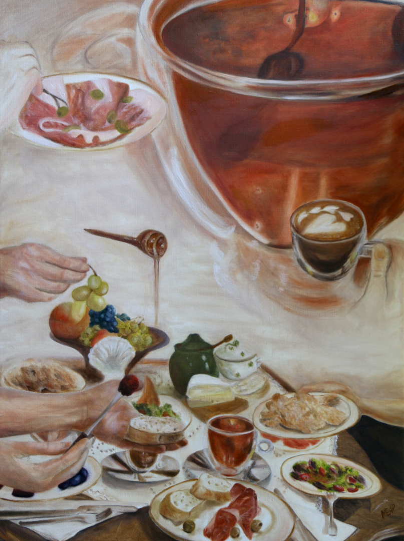 Slow breakfast, 60x80 cm