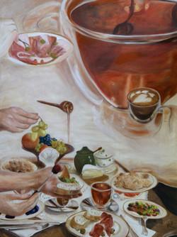 Slow breakfast, 60x80 cm