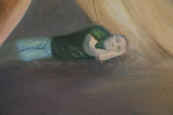 Someone prayed for him: Detail view