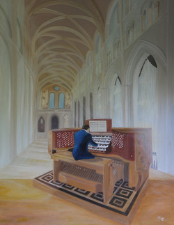 Organist, 70x90 cm