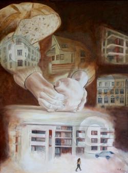Community bread, 60x80 cm