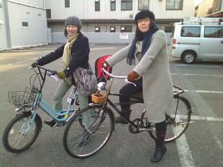 自転車で映画館へ