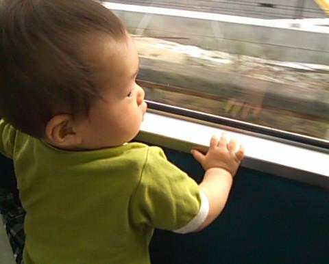 電車にのって