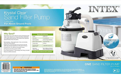 Intex 1200 Gph Krystal Clear Sand Filter Pump