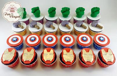 Avengers 3D Cupcakes