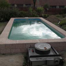 Usazení bazénové vany