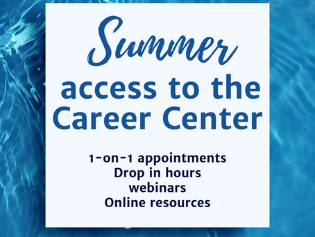 Summer access to the Career Center
