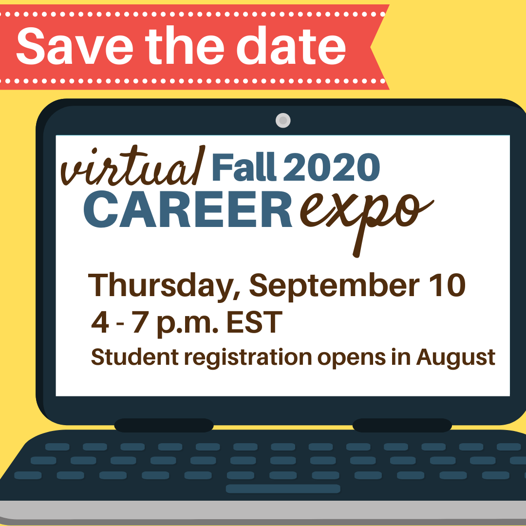 Fall 2020 Virtual Career Expo Insta Save