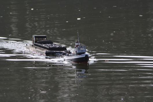 Tug Towing Coal Barge