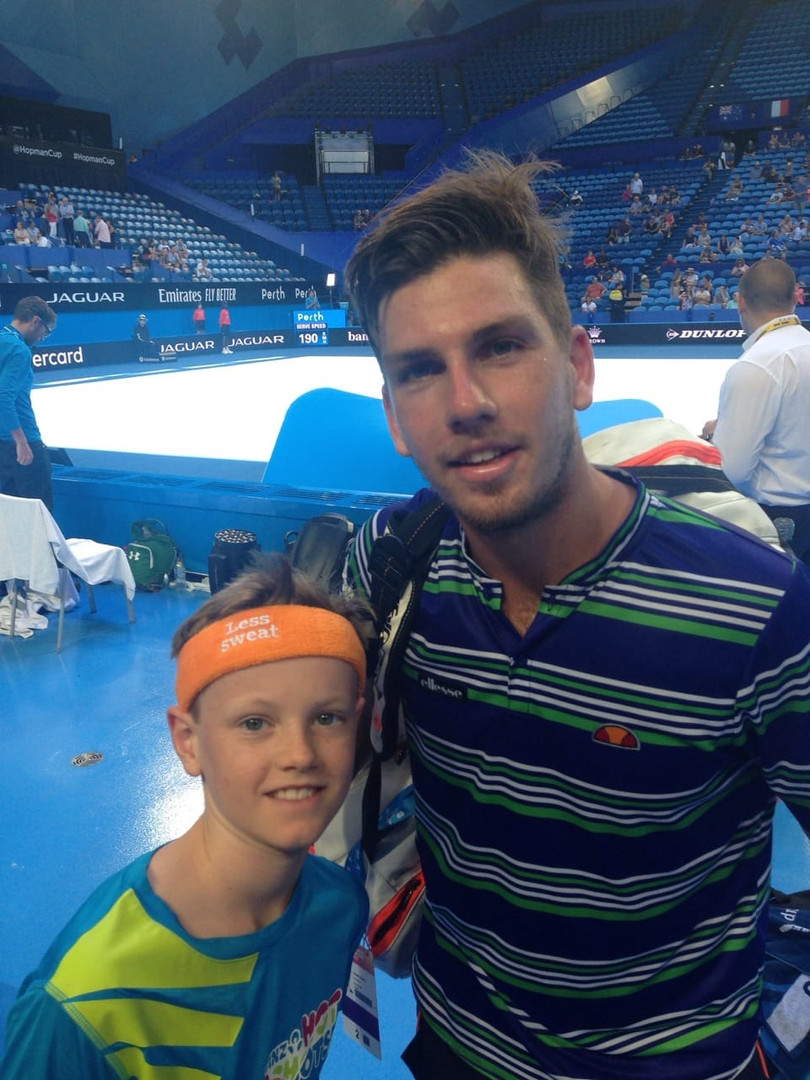 Cam with Great Britain player Cameron Norrie