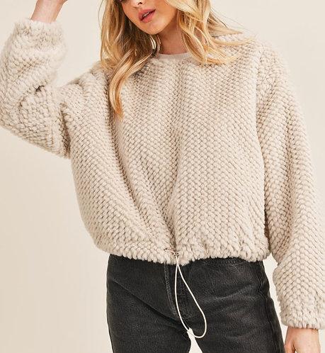 Furry Tie Pullover