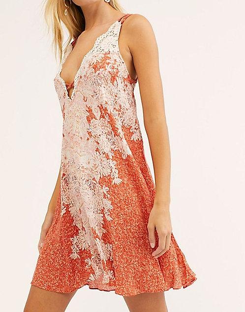 FP Orange Slip Dress