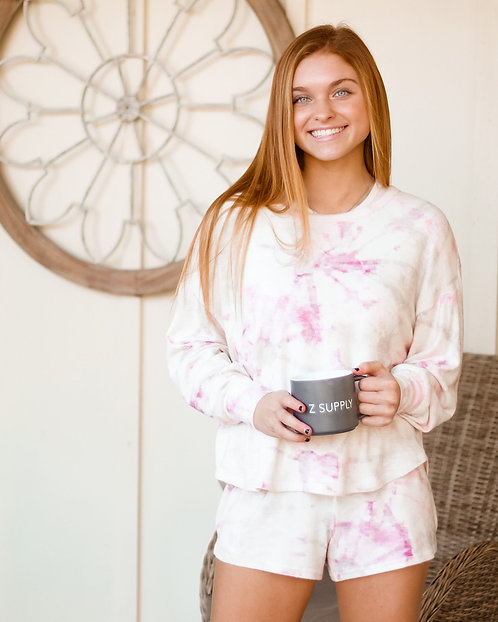ZS Sun Ray Faded Tie-Dye Pullover