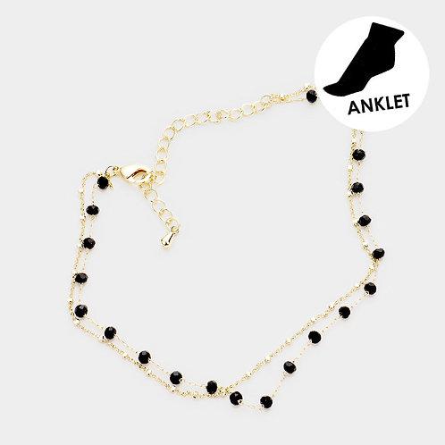 Bead & Link Anklet Bracelet