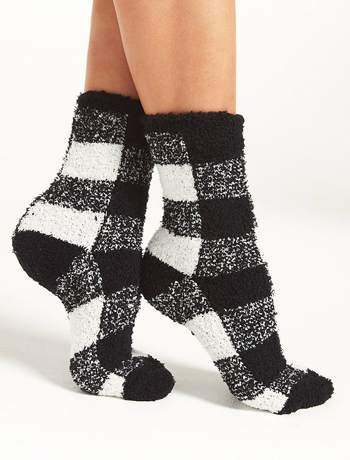 ZS Check Plush Socks