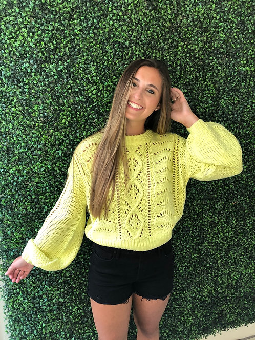 Lime Yellow Sweater