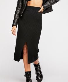 FP Black Midi Skirt