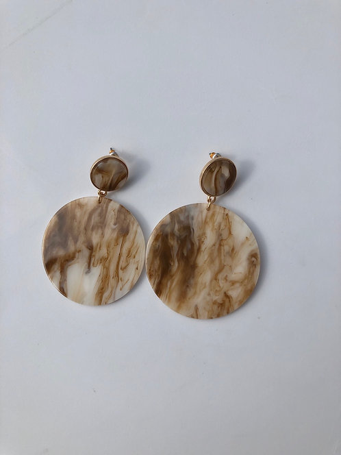 Acrylic Round Earrings
