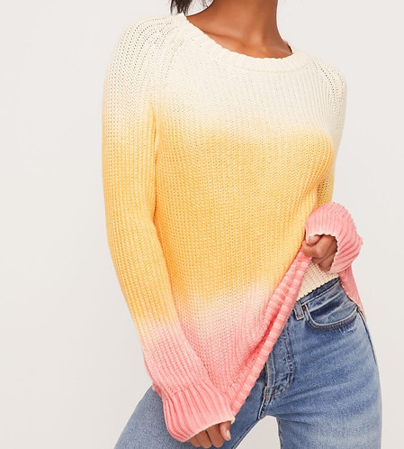 Pink Ombre Knit Sweater