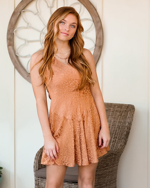 Terra Cotta Leopard Dress
