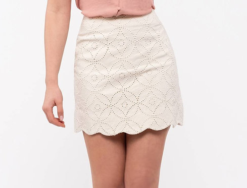 Embroidery Cream Skirt