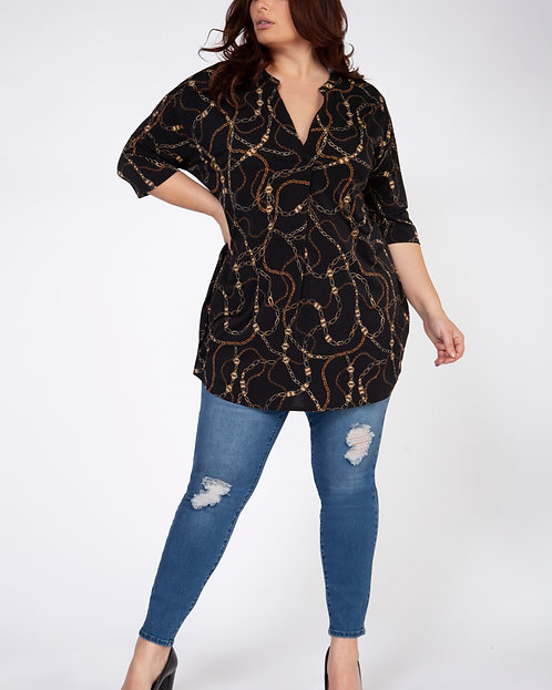 Plus Chain Print Tunic