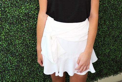 Tie Front Skirt